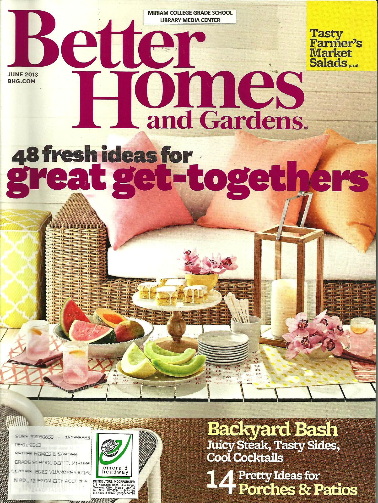 Better Homes And Gardens June 2013 1 Library Media Center