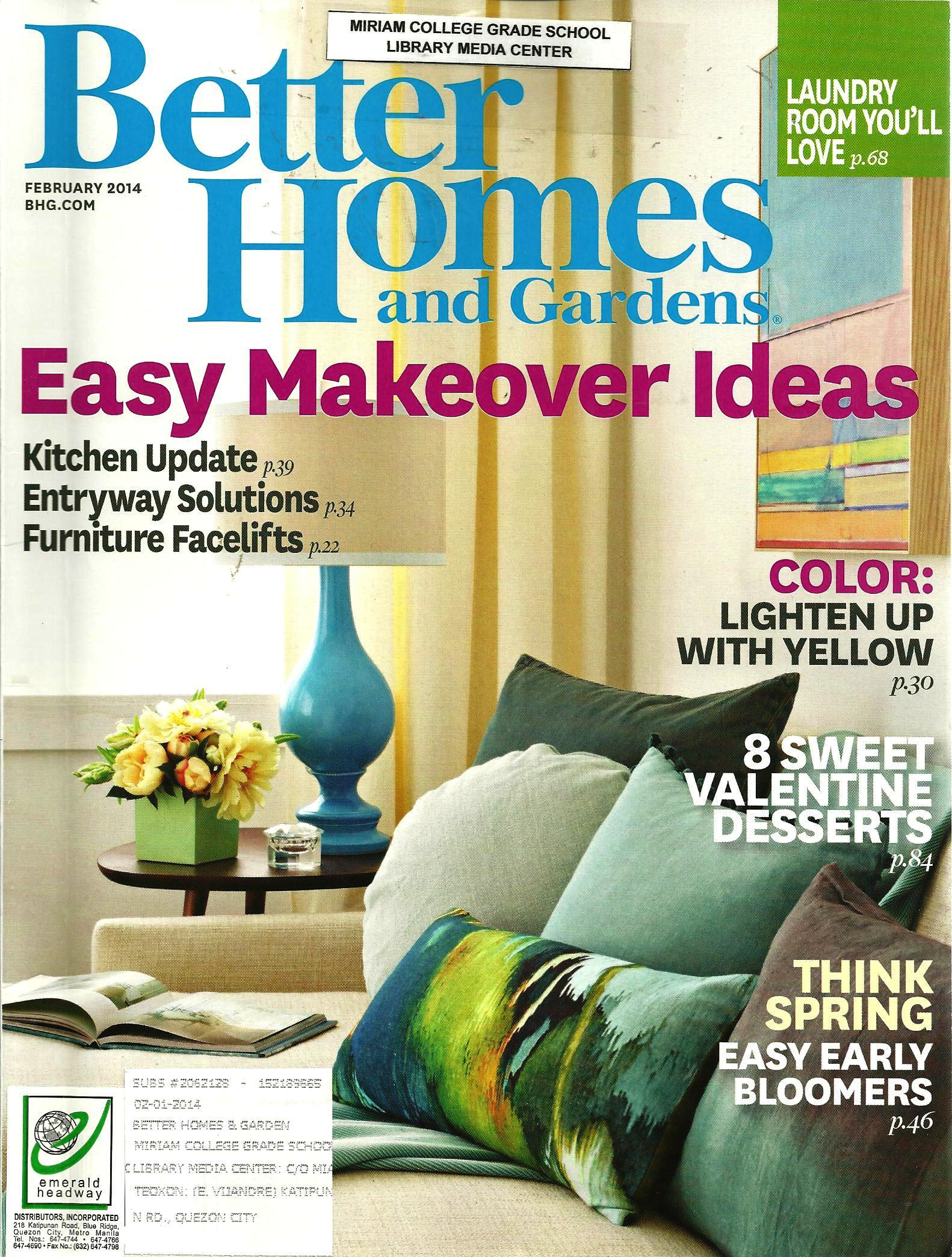 Better Homes And Gardens February 2014 Volume 92 Number 2