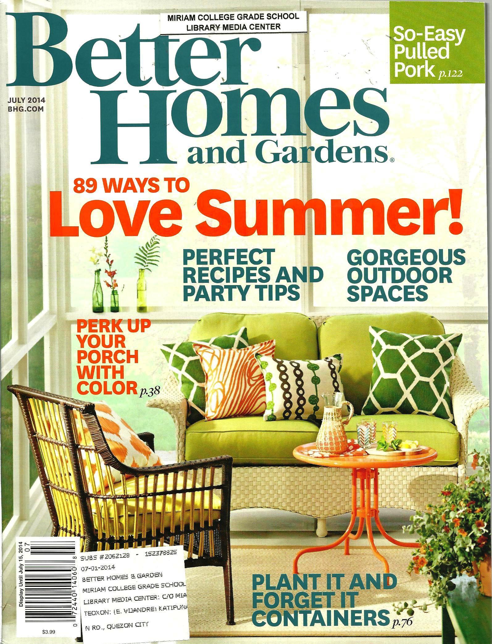 Better Homes Gardens July 2014 Volume 92 Number 7 1 Library Media Center