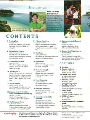 Health & Home July-August 2013 Volume54 Number 4 Table of Contents
