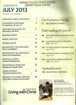 Living with Christ July 2013 Volume 2 Number 4 Table of Contents